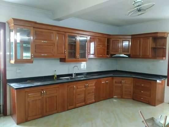 Tủ bếp gỗ sồi Nga SG-012