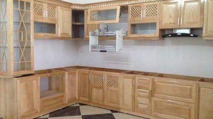 Tủ bếp gỗ sồi Nga SG-039