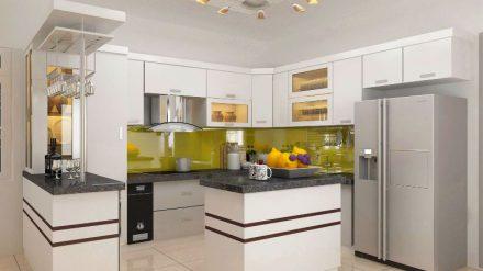 Tủ bếp Acrylic A-004