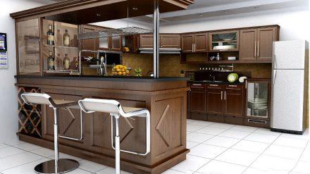 Tủ bếp giáng hương GH-015