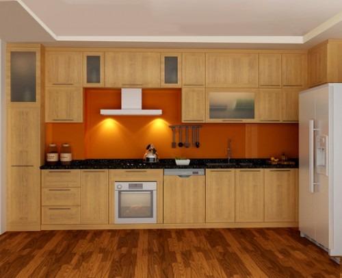 Tủ bếp gỗ sồi Nga SG-007