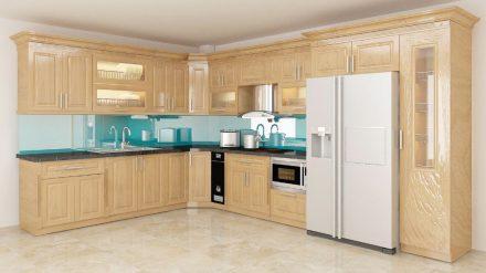 Tủ bếp gỗ Sồi Mỹ SM-05