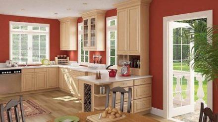 Tủ bếp gỗ Sồi Mỹ SM-07