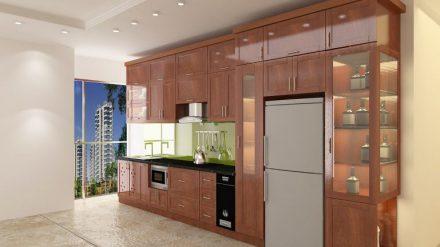 Tủ bếp gỗ xoan đào XD-003