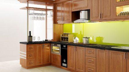 Tủ bếp gỗ xoan đào XD-006