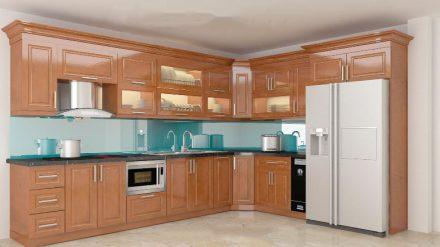 Tủ bếp gỗ xoan đào XD-009