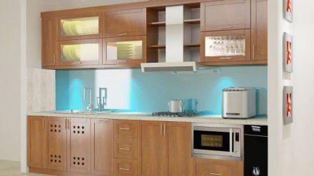 Tủ bếp gỗ xoan đào XD-012