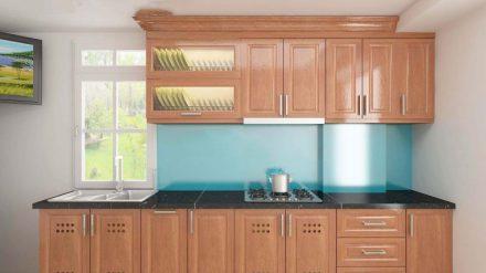 Tủ bếp gỗ xoan đào XD-013