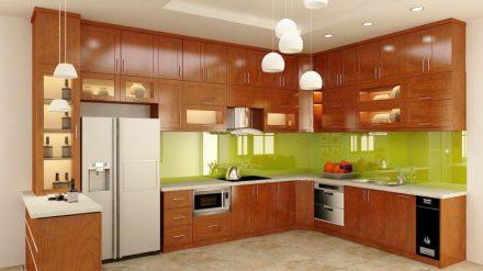 Tủ bếp gỗ xoan đào XD-014