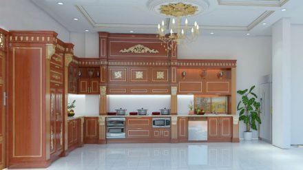 Tủ bếp gỗ xoan đào XD-020