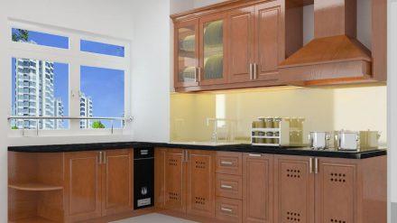 Tủ bếp gỗ xoan đào XD-023