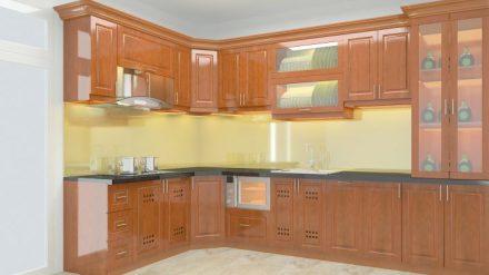 Tủ bếp gỗ xoan đào XD-024