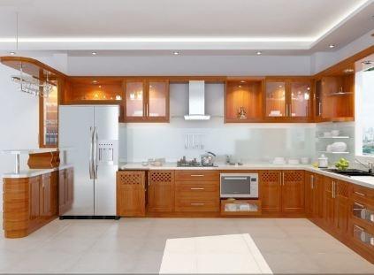 Tủ bếp gỗ xoan đào XD-025