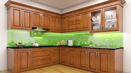 Tủ bếp gỗ xoan đào XD-030