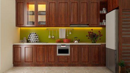 Tủ bếp gỗ xoan đào XD-036