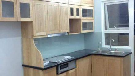 Tủ bếp gỗ sồi Nga SG-010