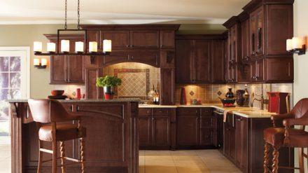 Tủ bếp gỗ Óc chó TC-004