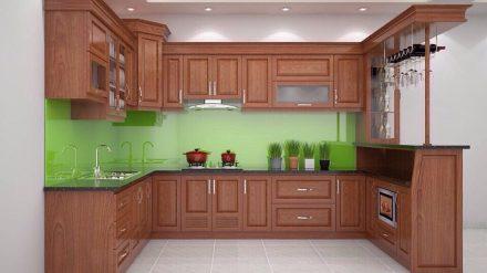 Tủ bếp gỗ xoan đào XD-040