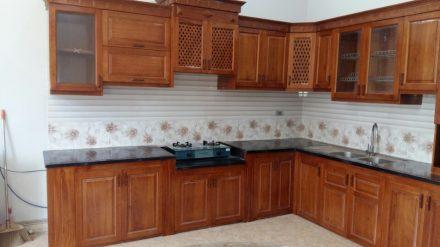 Tủ bếp gỗ xoan đào XD-017
