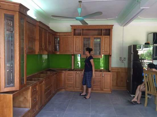 Tủ bếp gỗ sồi Nga SG-024
