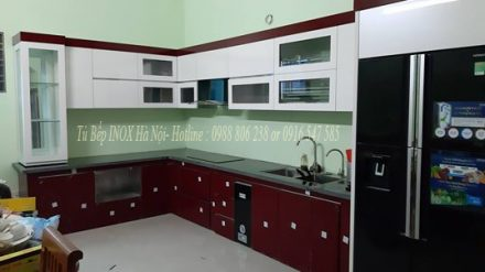 Tủ bếp INOX chữ L