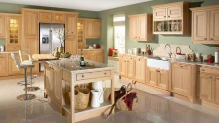 Tủ bếp gỗ Sồi Mỹ SM-08